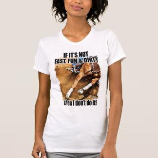 , Fasten Spaß u. das schmutzige Fass-Laufen T-Shirt