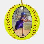Fastpitch Softball-Foto-Verzierung Ornamente
