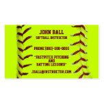 Fastpitch Softball-Lehrer-Visitenkarte