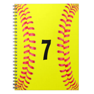 Fastpitch Softball Student-Athlet gewundenes Notizblock