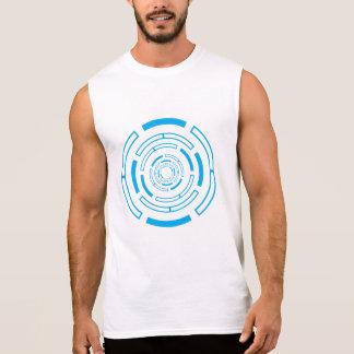 Faszinierender blauer Kreis Ärmelloses Shirt
