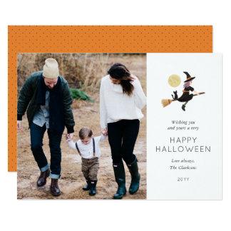 Faszinierte Halloween-Foto-Karte 12,7 X 17,8 Cm Einladungskarte