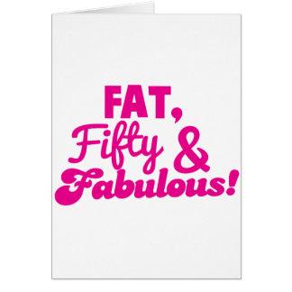 FAT fünfzig 50 und FABELHAFTES Karte