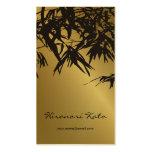 fatfatin Bambus verlässt Gold schwarze Visitenkarten Vorlagen