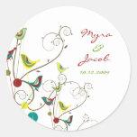fatfatin Colorful Summer Bird and Swirls Sticker