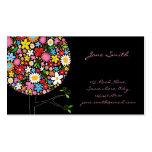 fatfatin Frühlings-Blumen-Pop-Baum Businesscard