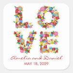 fatfatin LOVE Spring Flowers Wedding Stickers