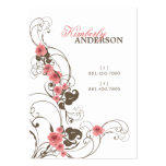 fatfatin rosa Rosen Fleur elegante Visitenkarte
