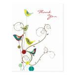 fatfatin Sommer-Vogel und Wirbel dankt Ihnen Postkarte
