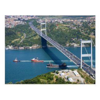 Fatih Sultans-Mehmet-Brücke über dem Bosphorus, Postkarte