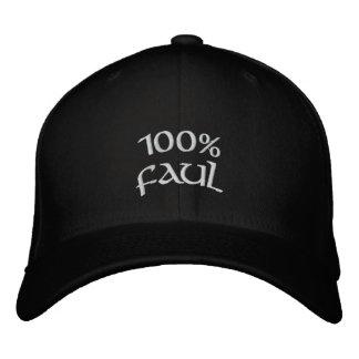 faul 100% bestickte kappe