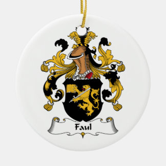 Faul Familienwappen Rundes Keramik Ornament