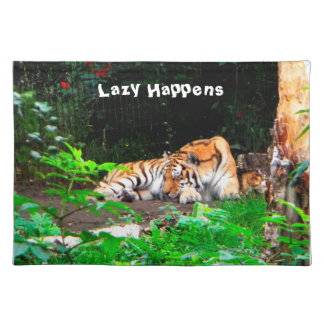 Faul geschieht sibirischer Tiger Tischset