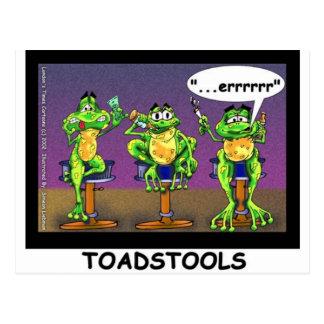 Faule Fröschealias Toadstools-lustige Geschenke u. Postkarte