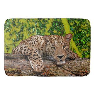 Fauler Leopard Badematten