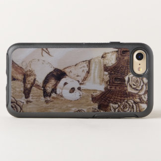 Faules Panda-Bad OtterBox Symmetry iPhone 8/7 Hülle