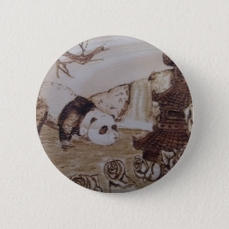 Faules Panda-Bad Runder Button 5,7 Cm
