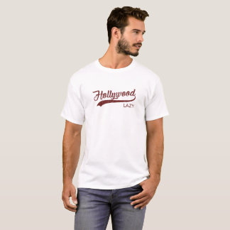 Faules Vintages Rot Hollywood T - Shirt-| T-Shirt