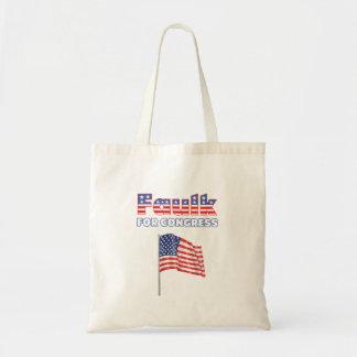 Faulk für Kongress-patriotische amerikanische Flag Leinentasche