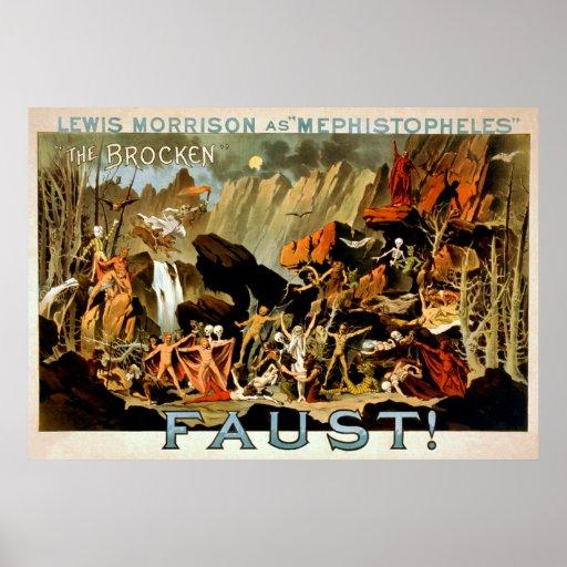 Faust 1887 - Theater-Plakat