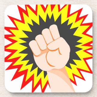 Faust-Handstärken-Arm-Power-Energie-Durchschlag Getränkeuntersetzer
