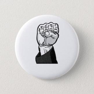 Faust in der Luft Runder Button 5,1 Cm