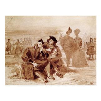 Faust und Wagner im Gespräch herein Postkarte