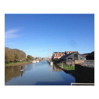 Faversham Nebenfluss, England, mit Fotodruck