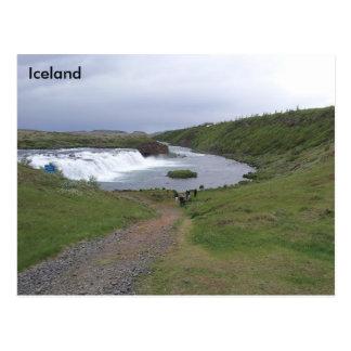 Faxi Wasserfall (Vatnsleysufoss), Island Postkarte