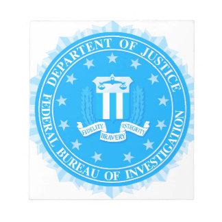 Fbi-Siegel im Blau Notizblock