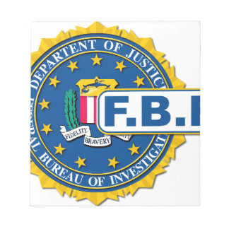 Fbi-Siegel-Modell Notizblock