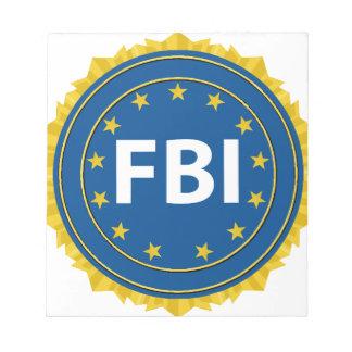 Fbi-Siegel Notizblock