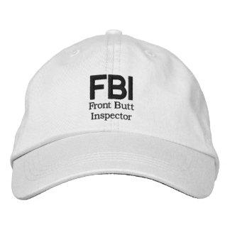 FBI: Vorderer Hintern-Inspektor Bestickte Baseballcaps