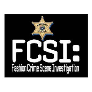 FCSI:  Mode-Tatort-Untersuchung Postkarte