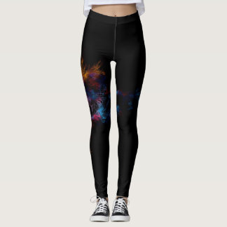 feathers_lines_patterns_light_dark_ leggings