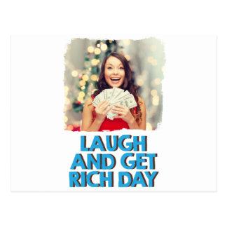 Februar achter - lachen Sie und erhalten Sie Postkarte