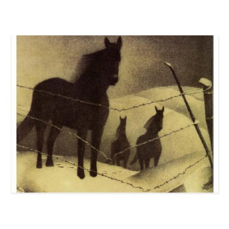 Februar durch Grant Wood Postkarte