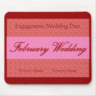 """""""Februar-Hochzeit"""" Mousepad - kundengerecht"""