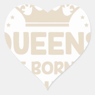 Februar-Königin Herz-Aufkleber