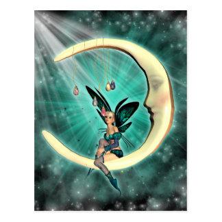 Februar-Mond-feenhafte Fantasie-Postkarte Postkarte