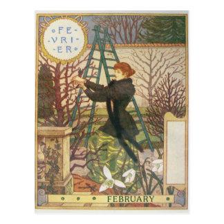 Februar Postkarte