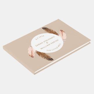 Feder-Aquarell-HochzeitGuestbook Gästebuch