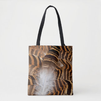 Feder Browns Stripepd abstrakt Tasche