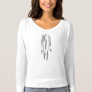 Feder-lange Hülse T-shirt