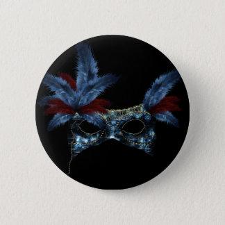 Feder-Masken-Maskerade-Party-Ereignis-Gewohnheit Runder Button 5,1 Cm