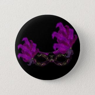 Feder-Masken-Maskerade-Party-Ereignis-Gewohnheit Runder Button 5,7 Cm