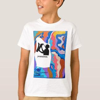 Feder-Saxophon-Stauen T-Shirt