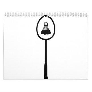 Federballschläger shuttlecock wandkalender