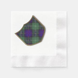 Federith Clan karierter schottischer Kilt Tartan Serviette