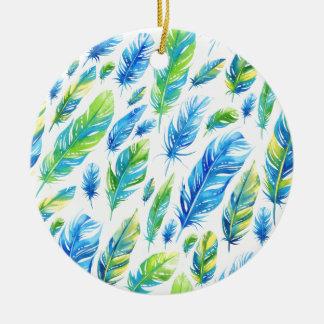 Federn 5 rundes keramik ornament